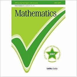 Descargar Ebook Torrent Maths Intermediate 2 Sqa Past Papers: Units 1, 2 And 3 It Epub