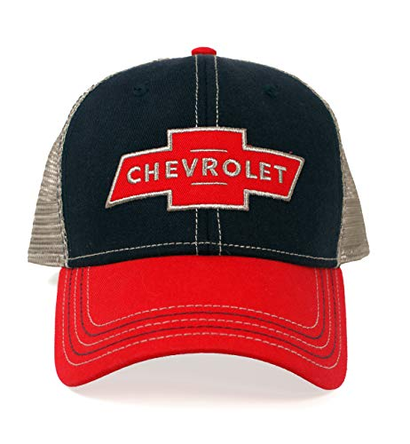 (Chevy Red Logo Patch Hat )