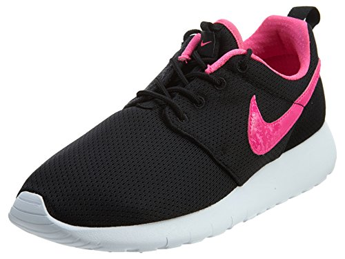 Nike - Zapatillas de running Roshe Run Black/Pink Blast-white