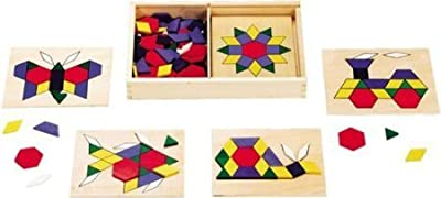 Melissa & Doug Pattern Blocks and Boards, 120 pcs - Item #29