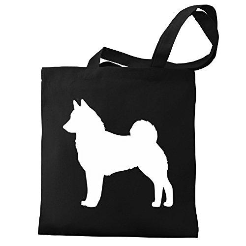 silhouette Eddany Eddany Canvas Elkhound Black Tote Bag Norwegian Black xSqwaTdTX
