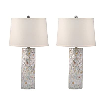 Amazon lamp works mother of pearl table lamp set of 2 office lamp works mother of pearl table lamp set of 2 aloadofball Images