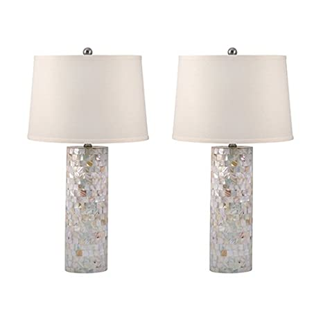 Lamp Works Mother Of Pearl Table Lamp (Set Of 2)