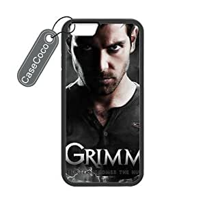 CASECOCO(TM) iPhone 6 Case, Favorite US TV Grimm Case for iPhone 6 (4.7-inch) - Protective Hard Back / Black Rubber Sides