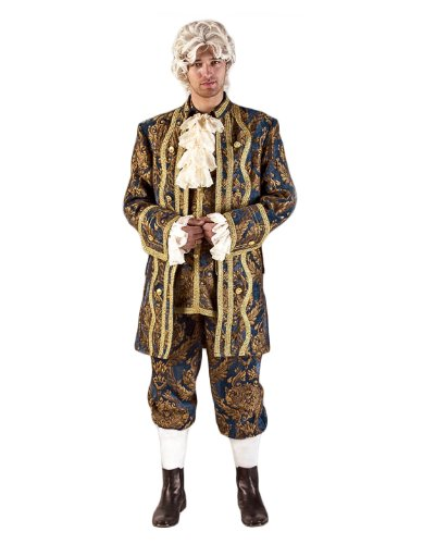 Mozart Costume Amadeus (Deluxe Mozart Colonial Man Theatrical Quality Costume,)