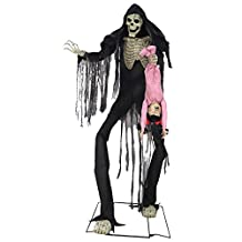 Towering Boogey Man With Kid Animated Halloween Prop