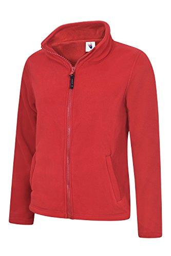 in in in Clothing Clothing Clothing Clothing da zip giacca micropile integrale stile donna con classico Red Uneek HfZxZ