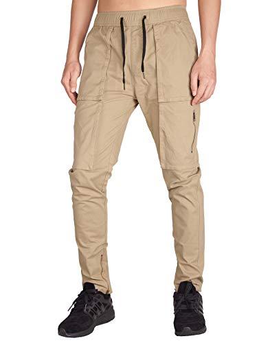 - ITALY MORN Men's Chino Cargo Casual Pants S Khaki