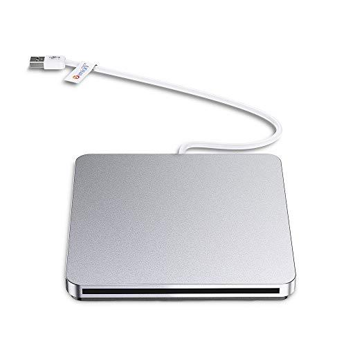 USB External CD DVD Drive, VersionTECH. Portable Burner/Writer/SuperDrive CD DVD +/- RW, Compatible with Windows 10/8/7/XP/Vista MAC OS System for Mac Pro Air iMac Laptop ()