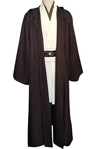 Cosplaybar Costume Star Wars Obi-Wan Kenobi Jedi Robe Halloween Outfit Male -