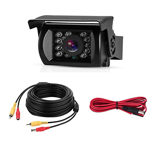 LeeKooLuu Backup Camera 12V-24V Truck Rear View Camera for Camper/Van/Trailers/Bus/RV/5th Wheel IP68 Waterproof Night Vision HD Color