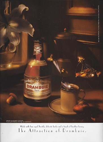 MAGAZINE ADVERTISEMENT For 1997 Drambuie Liqueur & Coffee: The Attraction