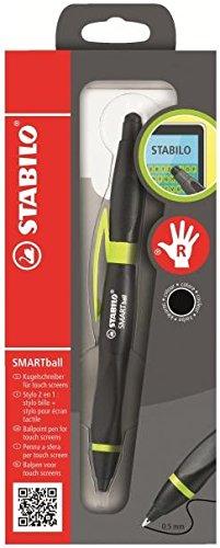 Ballpoint -STABILO SMARTball 2.0 Right Handed Black/Kiwi black ink