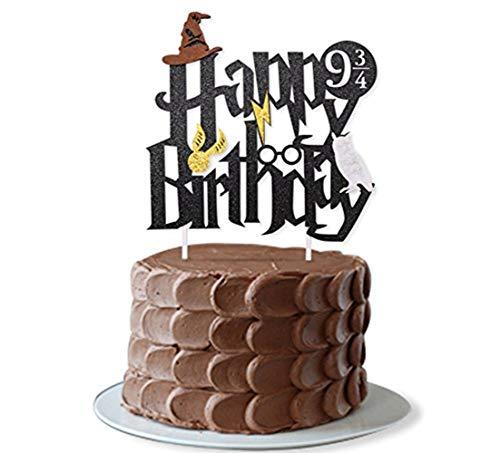 JeVenis Decoración para tarta de cumpleaños con diseño de Mago