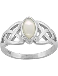Sterling Silver Celtic Knot Trinity Triquetra Ring 1/2 inch sizes 6-14