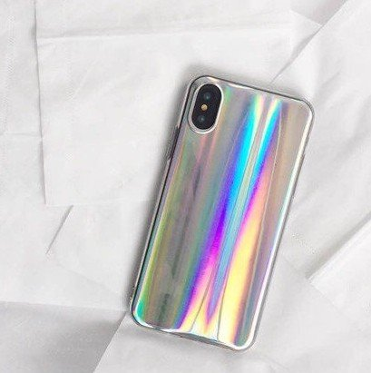 New Mirror Phone - iPhone X Case,Blingy's Bling Bling Cute Shiny Style TPU Rubber Case for iPhone X (New Smooth Silver)