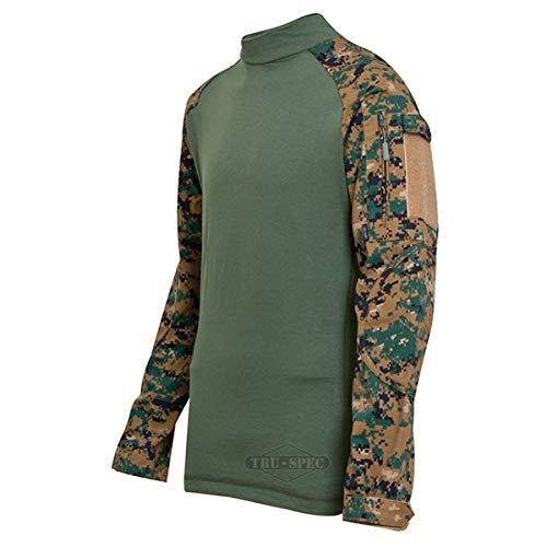 Tru-Spec TRU Combat Long-Sleeve Shirt Poly-Cot Woodland Digi/OD XL-Reg