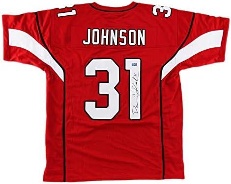 David Johnson Autographed/Signed Arizona Custom Red Jersey at ...