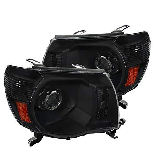 Spec-D Tuning 2LHP-TAC06JM-RS Toyota Tacoma JDM Black Clear Projector Headlights Head Lamps Pair