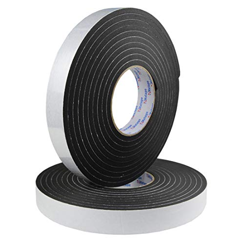 Hxtape High Density Foam Tape,Single Side Adhesive,Soundproofing Waterproofing Insulation Foam Gasket Tape Weather Strip (1/4