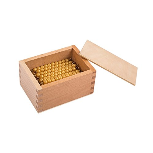 45 Material - Montessori Math Materials 45 Golden Bead Bars of 10 with Box for Early Preschool Learning Toy