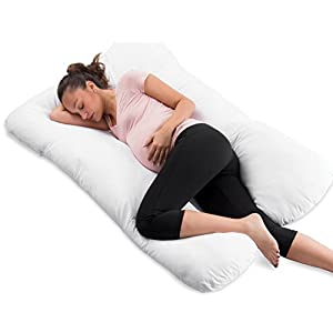 ComfySure Full Body Pregnancy Pillow - U Shaped Hypoallergenic Maternity Support Cushion for Pregnant and Nursing Women - Comfortable, Therapeutic, Machine Washable - By