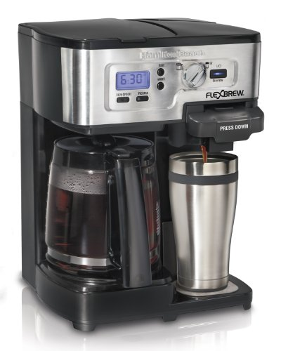 Hamilton Beach FlexBrew Single Serve & Full Pot Coffee Maker (49983A) (Oz Mug Auto 14)