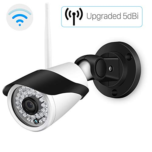 Outdoor WiFi Security Camera, HD 720P Wireless Survenience IP Camera, IP66 Waterproof Bullet Cameras for Home, Support Motion Detection FTP 65ft Night Vision Remote View Onvif Cam