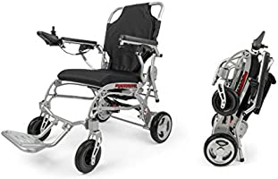 Porto Mobility Ranger Super Lightweight 41lbs Foldable Electric Wheelchair (Silver)