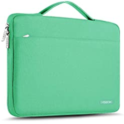 HSEOK Laptop Sleeve 13-13.5 Inch Case Briefcase, Compatible All Model of 13.3 Inch MacBook Air Pro, XPS 13, Surface Book 13.5″ Spill-Resistant Handbag and Most Popular 13″-13.5″ Notebook, Light Green
