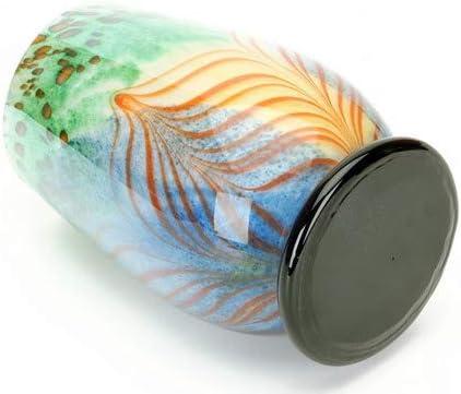 Tripact Inc M Design Art Handcraft Art Pink Rainbow Flame Swirls Glass Vase Kitchen