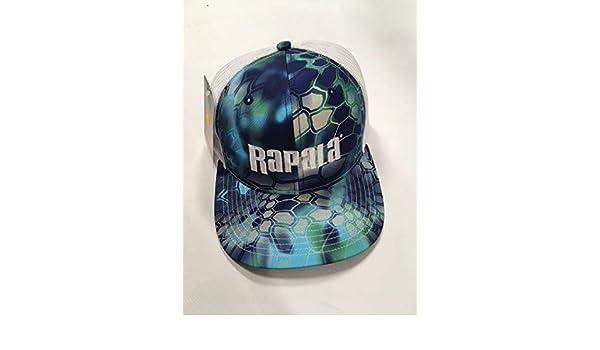 NEW Rapala Trucker Fishing Cap Kryptek Neptune//Black Mesh Center Logo RTC108