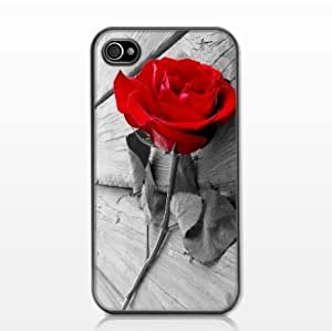 Vintage Photography Red Rose Hard Case with PU Leather Case For Samsung Note 3 Cover