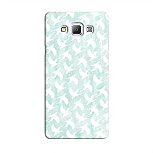 Cover It Up - White Bird Print Galaxy A7 Hard Case