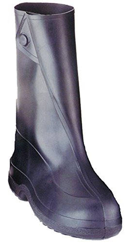 Totes Rubber Boots - Tingley Rubber 10-Inch 1400 Rubber Overshoe with Button Boot,Black,Large