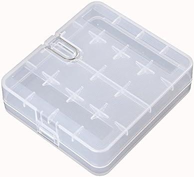 2 piezas Caja Almacenaje Plástica dura Portable Batería Soporte ...