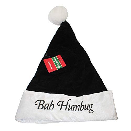 Merry Brite Black Bah Humbug Christmas Hat ()