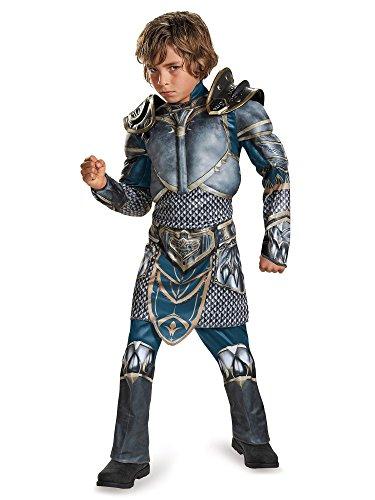Lothar Classic Muscle Warcraft Legendary Costume, Medium/7-8 -