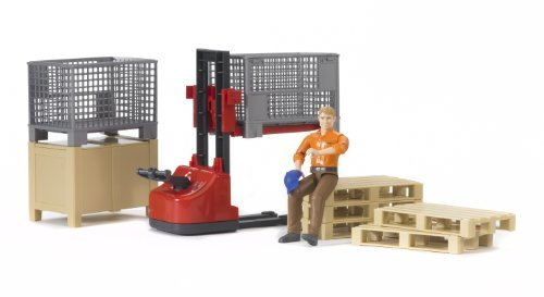 Bruder Bworld Logistics Set with Man - http://coolthings.us
