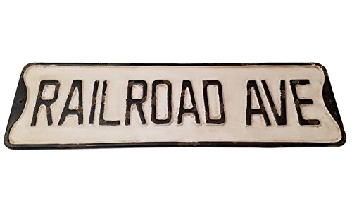 PD Home Vintage Street Sign (Railroad Ave)