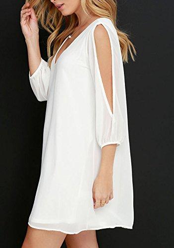Sommerkleider Damen Kurz Cocktail Partei Chiffon Kleid Elegant Mode ...