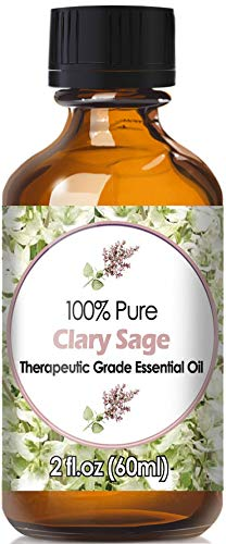 Clary Sage Essential Oil for Diffuser & Reed Diffusers (100% Pure Essential Oil) 60ml by Diffuse Essential Oils