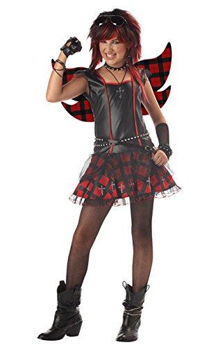Mememall Fashion Rebel Fairy Tween Punk Rock Costume (Colonial Rebel Costume)