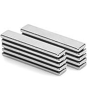 Neodymium magneten 10 stuks sterke magneetstrips, vierkante bakstenen magneten 60 x 10 x 4 mm, N52 zeldzame-aardmagneten voor glazen magneetborden, magneetborden