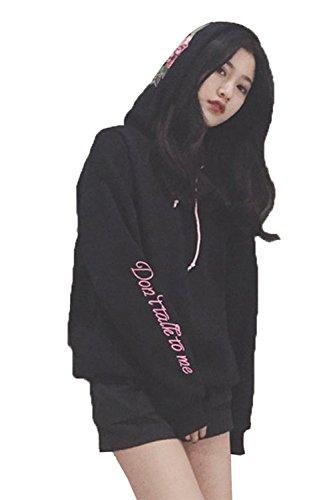 Embroidered Big Cotton Hoody Sweatshirt - 5