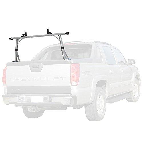 Vantech 1 bar ladder rack with endcaps for Cadillac Escalade EXT & Chevy Avalanche Silver