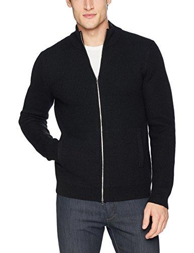 Theory Black Wool - Theory Men's Rovira Full Zip Wool Sweater, Black, M
