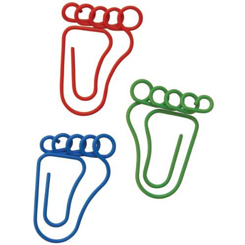 Baumgartens Feet Shaped Paper Clips, 20-Pack -