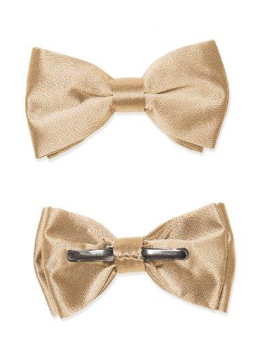 Boy's Matte Satin Clip Bow Tie by Dessy - Venetian Gold (Venetian Bows)