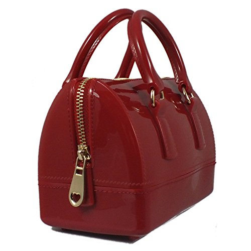 Is 17x9x11 Bag Red Tote Of Synthetic Red Material Bag Woman Cm 5 Uzx6WHdz